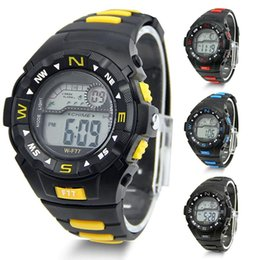 Wholesale Military Royale Watches - Cool Fashion Men Sports Watch Student Alarm Watch Waterproof LCD Digital Wrist Watch Army Aviator Wristwatch CMHM352