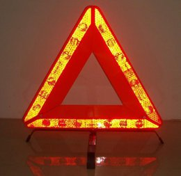 Wholesale Reflective Traffic Signs - 440MM Reflective parking triang brand , car tripod stand ,alert emergency warning signs foldable essential car Warning tripod Traffic Light