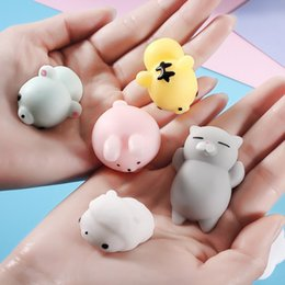 Wholesale Cat Squeeze - 2018 Squishy Slow Rising Jumbo Toy Bun Toys Animals Cute Kawaii Squeeze Cartoon Toy Mini Squishies Cat Squishiy Fashion Rare Animal