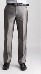 Wholesale Men S Dress Pant 42 - Wholesale-2015 New Fashion Summer Suit Pants Linen Men's Dress Pants Business Casual Classical Trousers Big Size 40 42 44