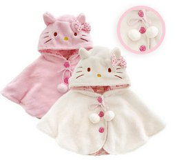 Wholesale Cape Poncho Coats For Girls - Fashion hello kitty baby girl clothes ,soft fleece cloak toddler girl clothing cape for outerwear coat ,baby clothes free shipping