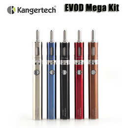 Wholesale E Cigarette Starter Kit Kanger - Original Kanger EVOD Mega starter kit kangertech evod mega e cigarette 1900mAh battery 2.5ml atomizer vaporizers kit