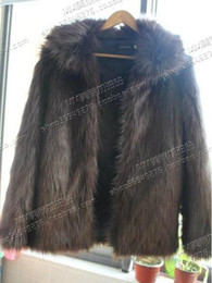 Wholesale Grey Fox Fur Coats - Male singer in Europe and the nightclub runway looks long fox fur coat in han edition fur hooded costumes. S - 3 xl
