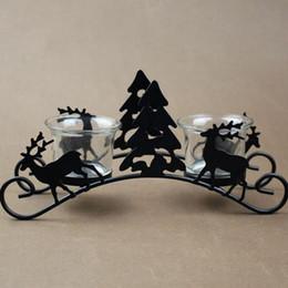 2019 hirsche steht Vintage Laterne Wandleuchte Eisen Kerzenständer Weihnachtsbaum Hirsch Modell Kerzenhalter Kerzenständer Laterne Dekor Handwerk ZA5435 günstig hirsche steht
