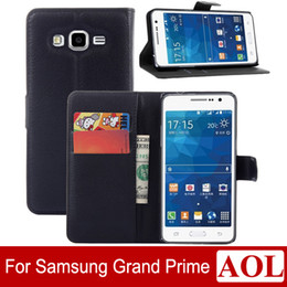 Wholesale Galaxy Grand Wallet Leather - High Quality Galaxy Grand Prime Leather Case Luxury Wallet Credit Card Stand Skin Cover for Samsung Galaxy g5308 g530 Colorful free shipping