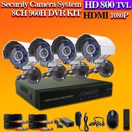 Wholesale Wireless Cctv Systems 8ch - HD 800TVL Wireless 3G CCTV home security video surveillance system 8CH 1080p 960h NVR KIT DVR outdoor security Camera system
