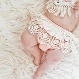 Wholesale Tutu Skirt Bloomers - Baby Girl Infant Toddler Summer Lace Shorts Pants Tassels Shorts Pants Bloomers Diaper Covers Cute Tutu Skirt Cotton Hollow Ruffle B11