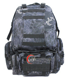 Wholesale Tactical Mountaineering Packs - Rattlesnake Mandrake 50L Large Molle Tactical 3 Day Assault Rucksacks Backpack Outdoor Camping mountaineering Bag