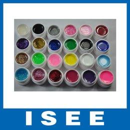 Wholesale Gel Nails Kits For Sale - Wholesale-Big sale Mix 12 Pure 12 Glitter Color UV Builder Gel for Nail Art Fasle Tips Kit Set