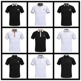 Wholesale Short Design Women - Summer New Design Luxury Brand Mens Polo Summer Fashion Short Sleeve Embroidery Polo Shirt High Quality With Tags M-3XL