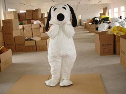 Wholesale Snoopy Suit - Snoopy white dog character fancy dress Cartoon Mascot Costume Adult Suit