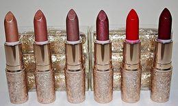 2019 sexy dunkles make-up Hot Brand Schneeball Limited Edition Urlaub Lippenstift Elle Belle Rouge En Schneeschimmer Gewürz Glitzernde Holiday Crush Warmes Eis 6 Farben Gl
