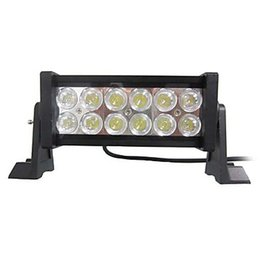 Wholesale White Led Work Light Bar - Free shipping LED 36W Mixing light white 6000K 12-Epistar LED work light Bar