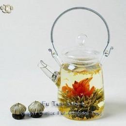 Wholesale Blooming Tea Teapot - Wholesale-Metal Handle Clear Glass Teapot heat-resistant handmade blooming tea tea pot, broken resend tea set
