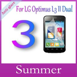 Wholesale Optimus L3 Screen - Wholesale-Matte Anti-Glare Anti Glare High Quality Screen Protector Protection Guard Film For LG Optimus L3 II Dual E435,With Package+3pcs