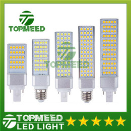 Wholesale E14 Led Bulb 14w - DHL E27 E14 G24 G23 SMD5050 LED corn bulb Horizontal Plug Led light lamp 10W 14W 18W 22W 24W 26W 180degree 85-265V 20