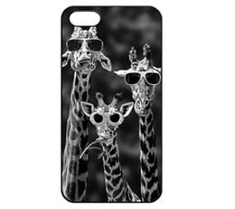 Wholesale Sunglasses Mobile - Wholesale Sunglasses Giraffe Funny Design Hard Plastic Mobile Phone Case Cover For iPhone 4 4S 5 5S 5C 6 6plus