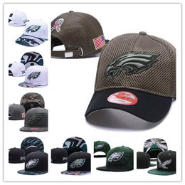 Wholesale Hip Hop Football - 2017 New American Football Snapback Adjustable Snapbacks Hip hop Flat hat Sports Team Quality Caps For Men And Women Philadelphia