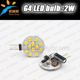 Wholesale T8 Round - G4 Round LED lamp SMD 2835 2W Circle Spotlight lamp bulb 12V Warm White 140lm Indoor Car Housing Camper Boat Spoting Corn Bulb
