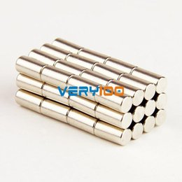 Wholesale Magnets Mm - Lot 50pcs Super Strong Round Bar Cylinder Magnet 4 X 8 mm Rare Earth Neodymium Free Shipping! order<$18no track
