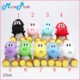 Wholesale Yoshi Color Plush - Super Mario Bros New 7inch yoshi Plush Doll Figure Toy 9 color yoshi green black red