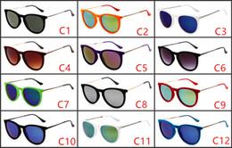 Wholesale Velvet Frame - HOT Luxury Ladies Cat Eye Sunglasses Women Brand Designer Erika Velvet Frame uv400 goggles oculos de sol feminina with box and brown cases