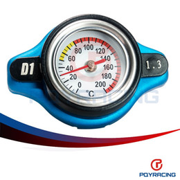 Wholesale Cap Radiator - PQY STORE-In stock D1 Spec RACING Thermost Radiator Cap COVER + Water Temp gauge 1.3BAR Cover For Honda PQY-DRC13