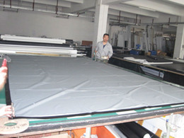 Wholesale High Contrast Screen - Wholesale-Free Shipping high contrast 150inch large screen 16:9 Front fabric 3D Grey Silver Projection Screen with black border and evelet