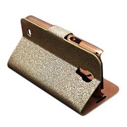 Wholesale Galaxy S4 Luxury Wallet Gold - S5Q Flip PU Leather Luxury Diamond Wallet Cases For Samsung Galaxy S4 Mini I9190 AAAEML
