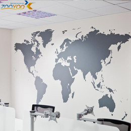 Wholesale Wall Stickers Map World - map of world wall stickers home decorations Sticker diy removable vinly wall decal study room living room wall decals