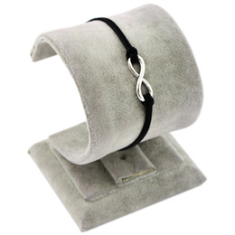 Wholesale Brown Leather Cord Bracelet - Wholesale-Bracelet-antique silver karma bracelet,Infinity Bracelet&brown Flocking leather cords 421 !