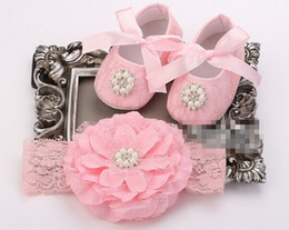Wholesale Baby Shoes Girl Diamond - 6%off!2015NEW ARRIVAL,SALEPink Lace Infant Shoes Headbands Set,Diamond Girl Toddler Shoe,Shoes for Baby,Sapato Infantil,Flower Headband,2set