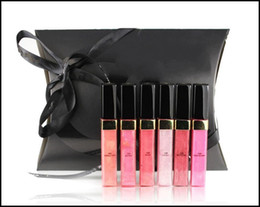 Wholesale Branded Lip Makeup - New Makeup Brand Lipgloss 6 Different Color Lipgloss Set Make Up Sample Size Lip Gloss
