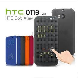 Wholesale Desire Gold - Luxury Flip Dot Matrix View Smart sleep wake Cover Case for HTC One M8 E8 M9 M9+ E9 E9+ A9 X9 Me Desire 820 620 626 826 728 828 830 Eye
