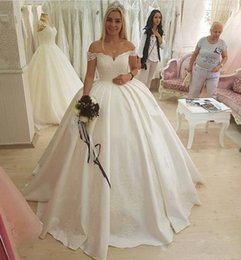 Wholesale China Western - 2018 Simple Cheap Wedding Dresses Ball Gown V Neck Cap Sleeve Sexy Backless Button Western China Bridal Gown Plus Size vestido de noiva