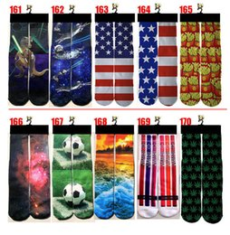 Wholesale Art Stocking - Wholesale Fashion New Sports Stockings 100pcs=50pairs 3D Printed Socks Adult peoples Men's Women's 3D Unisex Stocking Soft Cotton Socks