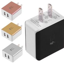 2019 cargos domiciliarios US Plug Mini 5V / 2A USB Cargador de pared Home Travel Power Fast Carging Adapte 2 puertos para Xiaomi Sansung Iphone ipad universal cargos domiciliarios baratos