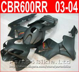 Wholesale black body molding - 100% Injection molding Matte black body parts for Honda fairings CBR600RR 2003 2006 fairing kit CBR 600RR 03 04 CBR 600 RR VJDA