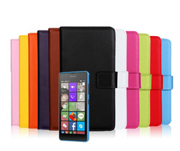 Wholesale Covers Bags For Microsoft - Phone Case For Microsoft Nokia Lumia 540 Leather Wallet Elegant Business Mobile Bag For Nokia Lumia 540 Cover