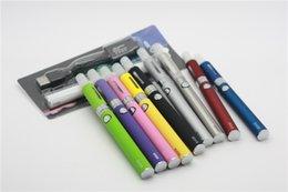Wholesale Bbc Blue - New Evod MT3 Blister Kit Electronic Cigarette BBC MT3 atomizer 650mAh 900mAh 1100mAh Evod Logo Battery E Cigarettes 10 Colors DHL Shipping