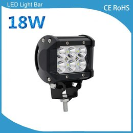 Wholesale Pieces Automobiles - 1 Piece high intensity 12v 24v DC automobile 4inch 18w waterproof IP67 offroad led light bar