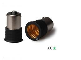 Wholesale 32mm Led - 500PCS BA15S To E17 Lamp Holder Converters For LED Light Bulb 15*32mm