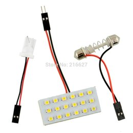 Wholesale Panel Light Truck Lighting - T10 18 30 SMD 3528 CAR TRUCK white LED INTERIOR DOME MAP 12V LIGHT BULB PANEL