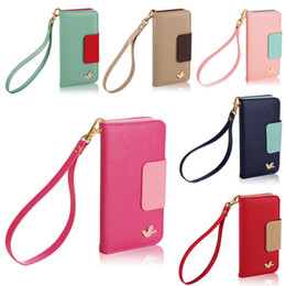 Wholesale Transparent Flip Cover Phone - 2015 New Pu Leather Flip Stand Wallet Leather Case With Photo Cell Phone Cases Cover For Iphone 6 iphone 6 plus cases iphone 4 4s 5s case