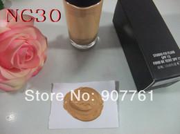 Wholesale Top Quality Makeup - 1PCs Best Sell TOP QUALITY Brand MC Makeup STUDIO FIX FLUID SPF 15 FOUNDATION 30 ML nc15 nc20 nc25 nc30 nc35 nc40 Free shipping