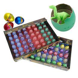 Venda de brinquedos de páscoa on-line-Ovos de dinossauro de páscoa brinquedos dinossauro ovo de páscoa variedade de animais ovos podem chocar para fora animais brinquedos criativos venda quente