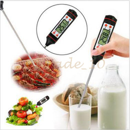 Wholesale Meat Cooking Thermometer - Food Grade Digital Cooking Food Probe Meat Kitchen BBQ Selectable Sensor Thermometer Portable Digital Cooking Thermometer CCA2821 100pcs