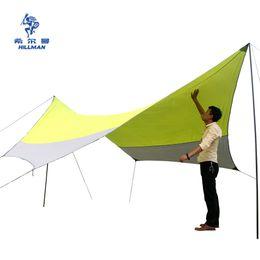 Wholesale Camping Gazebo Tent - Wholesale- 2017 new style high quality 5*5m Sunshelter super large size Sunscreen Camping Velarium silver coated tarp tent gazebo sun shade