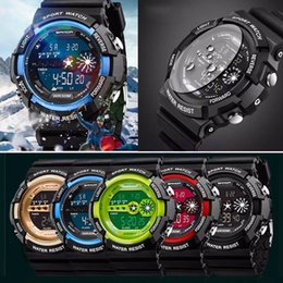 Wholesale Mens Watch Alarm - New Arrive Mens Stainless Steel LED Digital Date Alarm Waterproof Sports Army Quartz Watch Free Shipping