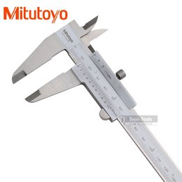 Wholesale Stainless Micrometer - Wholesale-Mitutoyo 0-200mm 0.05 1 128 vernier caliper monoblock micrometer paquimetro calipers pie de rey free shipping